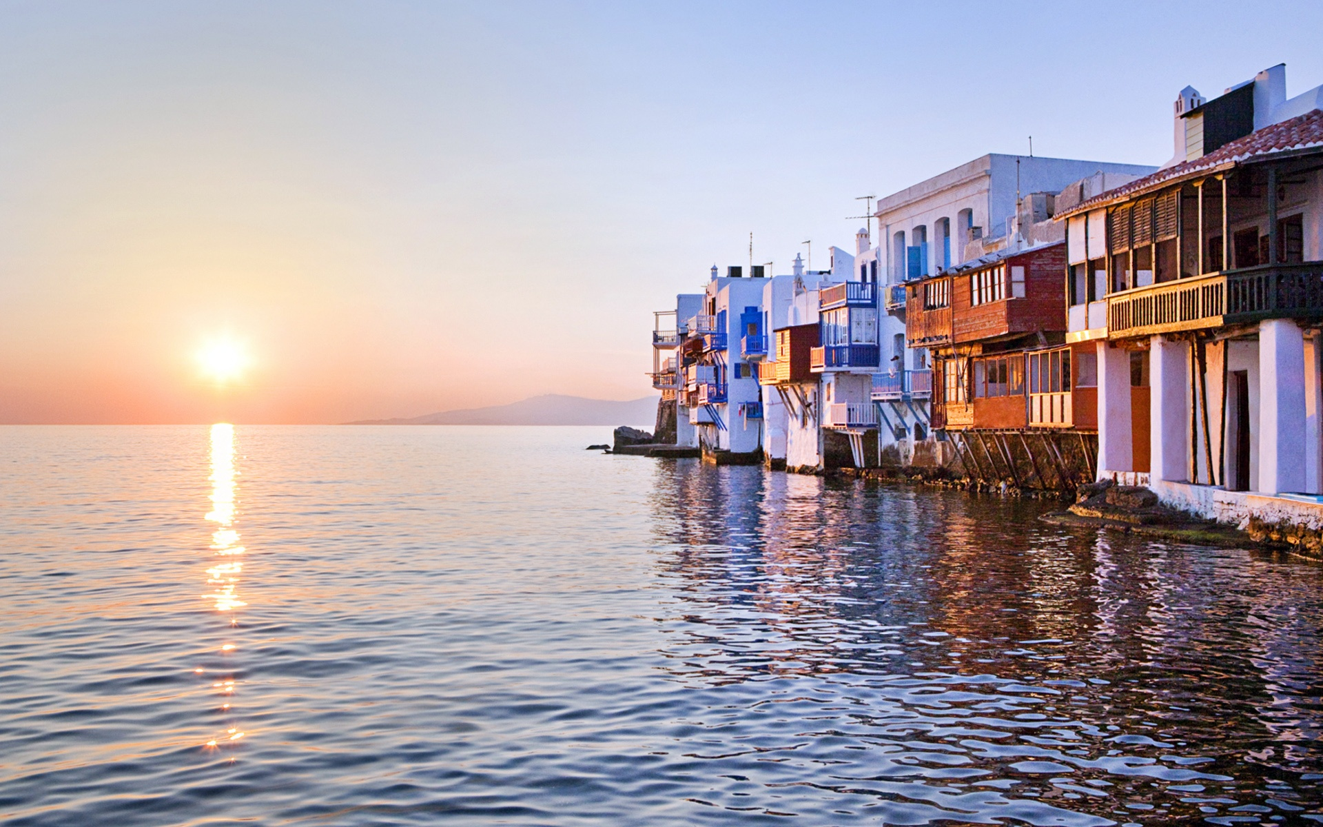 Little Venice, Mykonos, Greece, Sunset