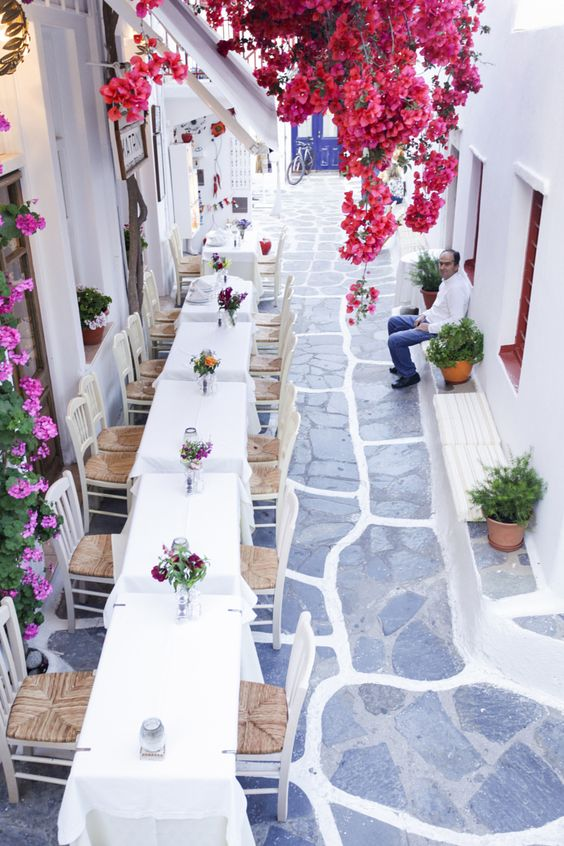 Mykonos, Greece. Streets