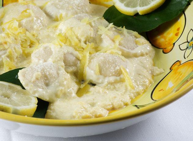 Raviolo al limone